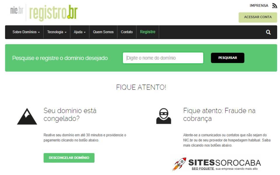 Registro.br - Sites Sorocaba